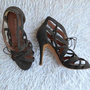 SIGERSON MORRISON brown suede heels size 5